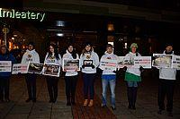 Aktion gegen Meatery / It's not food, it's violence