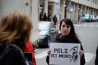 Aktion gegen den Pelzverkauf bei Breuninger